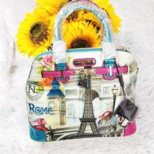 Nicole lee bag  Paris  Rome Eiffel tower